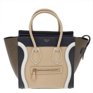 Celine Multicolor Leather Micro Luggage Tote