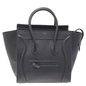 حقيبة يد توتس سيلين ميني لاغيدج جلد أسود