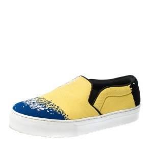 Celine Multicolor Knit Skate Slip On Sneakers Size 36.5