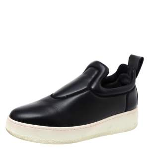 Celine Black Leather Slip On Sneakers Size 38