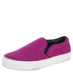 Celine Pink Wool Low Top Slip On Sneakers Size 39
