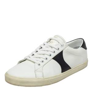 Celine White Leather Low Top Sneakers Size 37