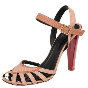 Celine Beige Leather Strappy Sandals Size 39