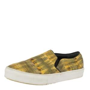 Celine Yellow Leather Slip On Sneakers Size 40