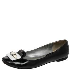 Celine Black/White Patent Leather Ballet Flats Size 37