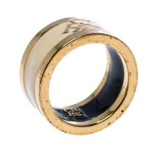 خاتم سي أتش كارولينا هيريرا حلقة ذهبية اللون إينامل كريمي