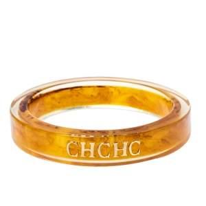 CH Carolina Herrera Orange Resin Bangle Bracelet