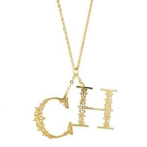 CH Carolina Herrera Gold Plated C for Carolina Necklace
