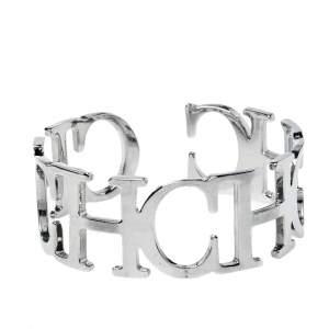 CH Carolina Herrera Silver Tone Between the Line Cuff Bracelet