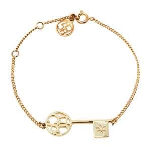 CH Carolina Herrera Las Llaves Gold Tone Bracelet