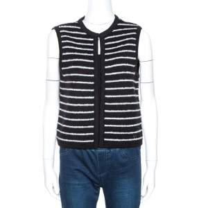 CH Carolina Herrera Monochrome Striped Knit Vest M
