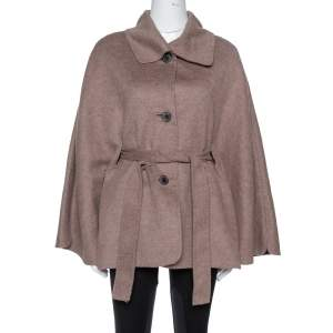 CH Carolina Herrera Taupe Wool & Cashmere Belted Coat XS