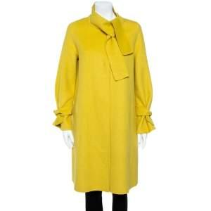 CH Carolina Herrera  Yellow Wool Coat XS