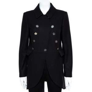 CH Carolina Herrera Black Wool Coat M