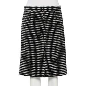 CH Carolina Herrera Black Boucle Skirt L