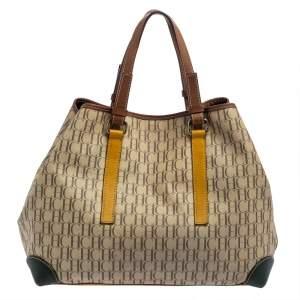 حقيبة يد كارولينا هيريرا جلد و كانفاس مقوى متعدد الألوان