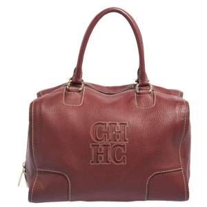 CH Carolina Herrera Red Leather Andy Satchel