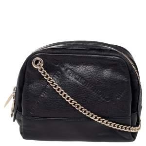 CH Carolina Herrera Black Leather Shoulder Bag