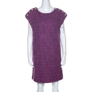 فستان تونيك شانيل تويد بنفسجي ميتاليك