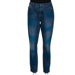 Chanel Two Tone Denim Mid Rise Jeans L