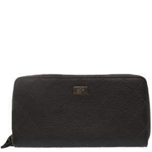 Chanel Black Leather Reissue Zip-Around Wallet