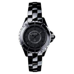 Chanel Black Ceramic J12 H4196 Quartz Women's Wristwatch 29 MM