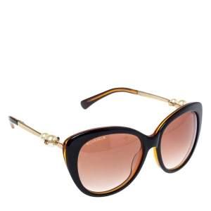 نظارة شمسية شانيل عين قطة لؤلؤ صناعي سي سي متدرجة سوداء/ بنية