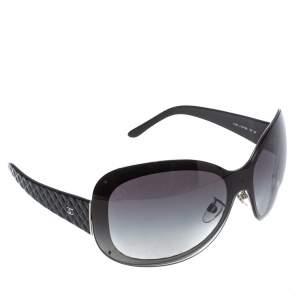 """نظارة شمسية شانيل """"4159"""" كبيرة الحجم غرادينت رصاصية و مبطنة سوداء"""
