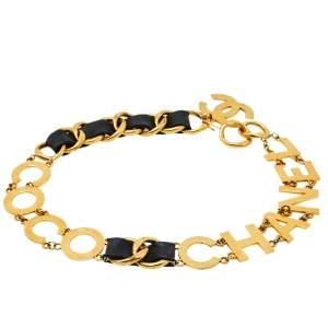 Chanel Vintage Coco Chanel Leather Link Waist Belt