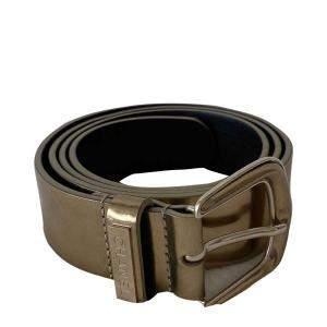 Chanel Metallic Gold Leather Belt 85