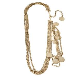 Chanel CC Coin Charm Multi Chain Gold Tone Belt / Necklace