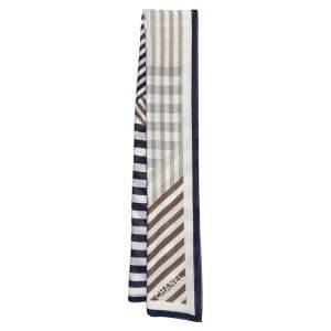Chanel Multicolored Striped Cotton Scarf