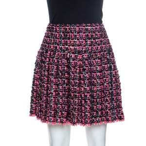 Chanel Multicolored Tweed Pleated Skirt M