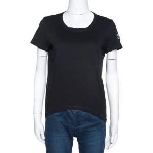Chanel Black Cotton 'Chanel Forever' Applique T-Shirt L