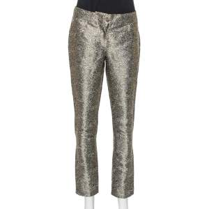 Chanel Metallic Lamé Cropped Pants M