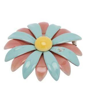 Chanel Pink/Aqua Enamel Baroque Brooch