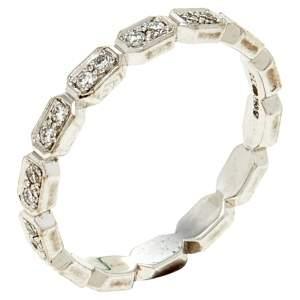 Chanel Premiere Diamond 18K White Gold Eternity Band Ring Size 52
