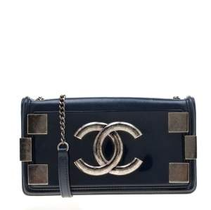 Chanel Blue Leather and Pexiglass Boy Brick Flap Bag