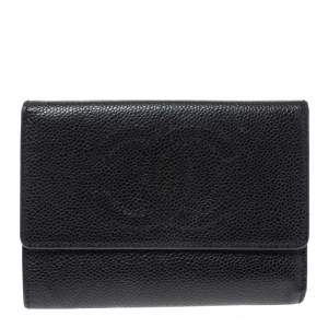 Chanel Black Caviar Leather CC Timeless Wallet