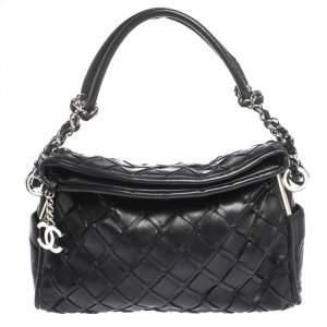 Chanel Black Leather Ultimate Soft Sombrero Bag