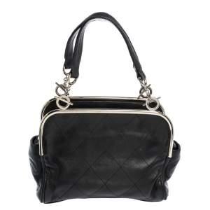 Chanel Black Quilted Leather Frame Bag