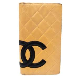 Chanel Cream Leather Cambon Ligne Bifold Wallet