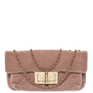 Chanel Nude Pink Velvet Mademoiselle Lock Flap Bag