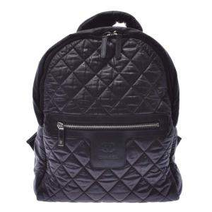 Chanel Black Matelasse Nylon A92559 Coco Cocoon 2019 Backpack