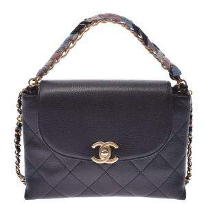 Chanel Black Caviar Flap Chain Shoulder Bag