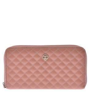 Chanel Beige Matelasse Leather Classic Wallet