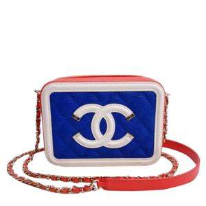 Chanel White Small CC Filigree 2018-19 Cruise Line Vanity Case Bag