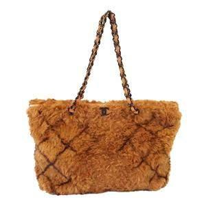 Chanel Brown Lapin Fur Vintage Shoulder Bag