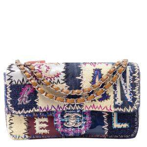 Chanel Multicolor Patchwork Jumbo Fabric Shoulder Bag