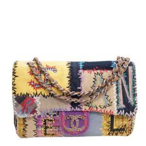 Chanel Multicolor Patchwork Classic Jumbo Single Flap Bag